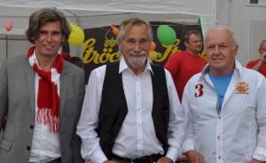 Sebastian Wilken und Karl Dampier mit Stargast Peter Rapp (Foto: Karl Juris)